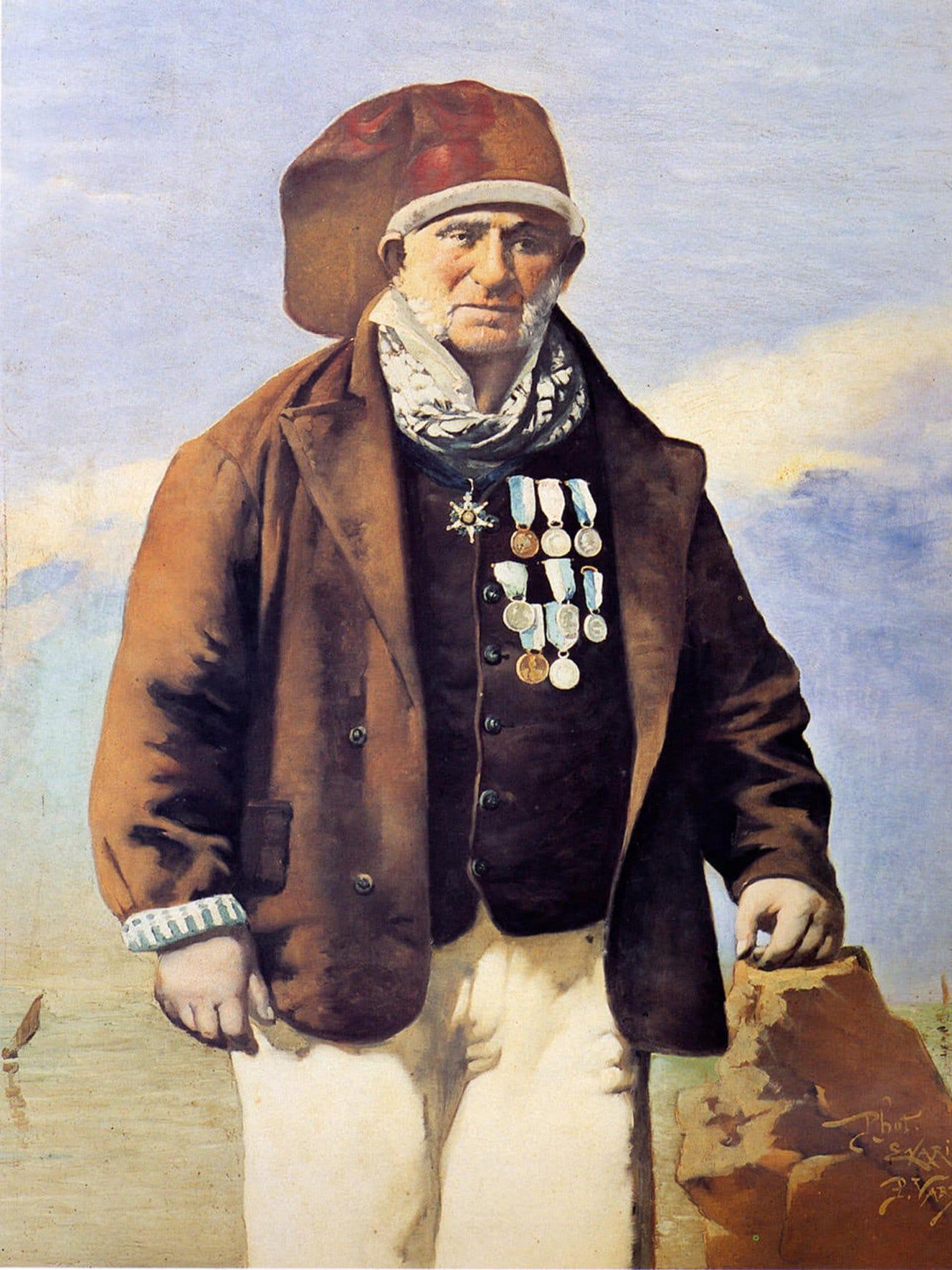 Pintura retrato do Cego do Maio